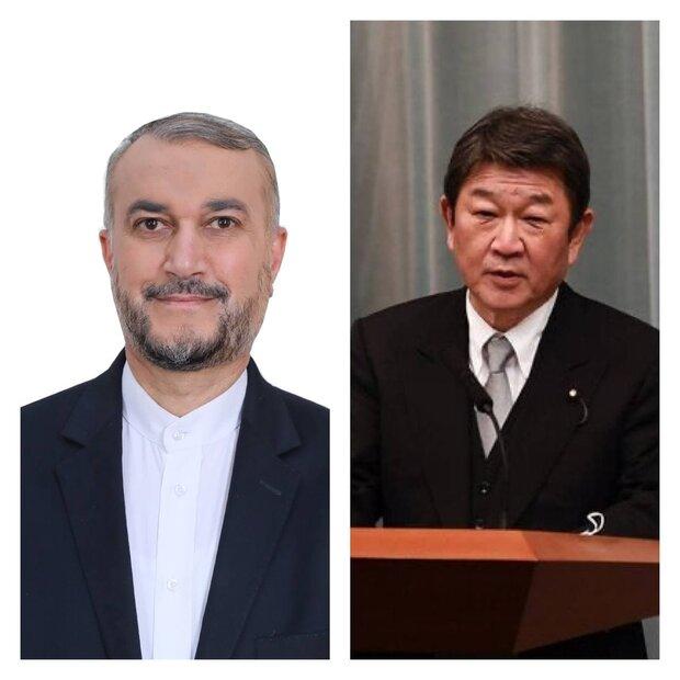 پیام تبریک وزیر امور خارجه ژاپن به امیر عبداللهیان
