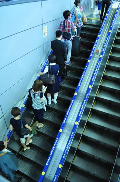 ژاپنیها و قاعدهای نانوشته در استفاده از پله برقی