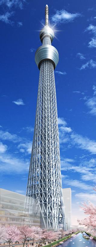 برج توکیو اسکایتری؛ بلندترین و مقاومترین برج دنیا
