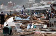 طوفان در ژاپن یک قربانی گرفت